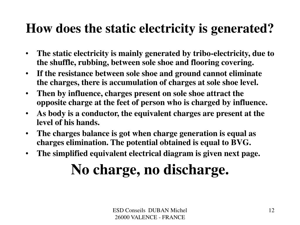 How does the static electricity is generated?