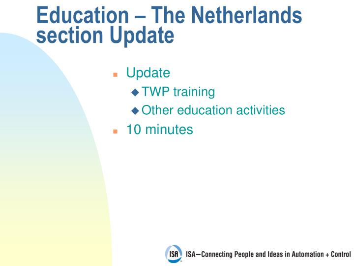 Education the netherlands section update2