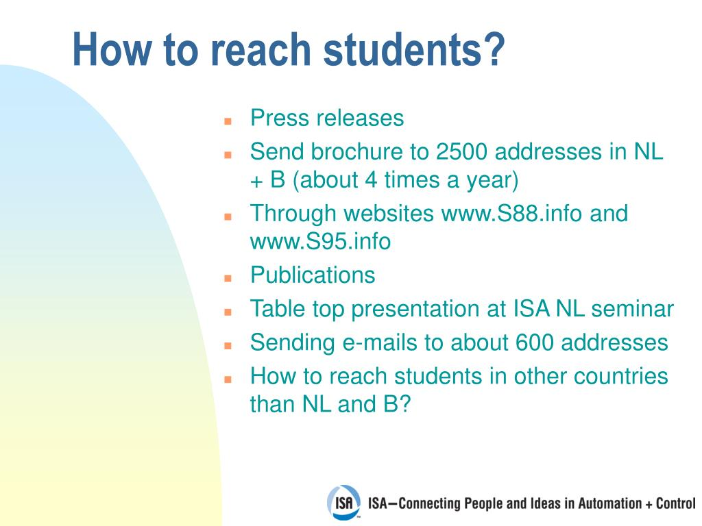 How to reach students?