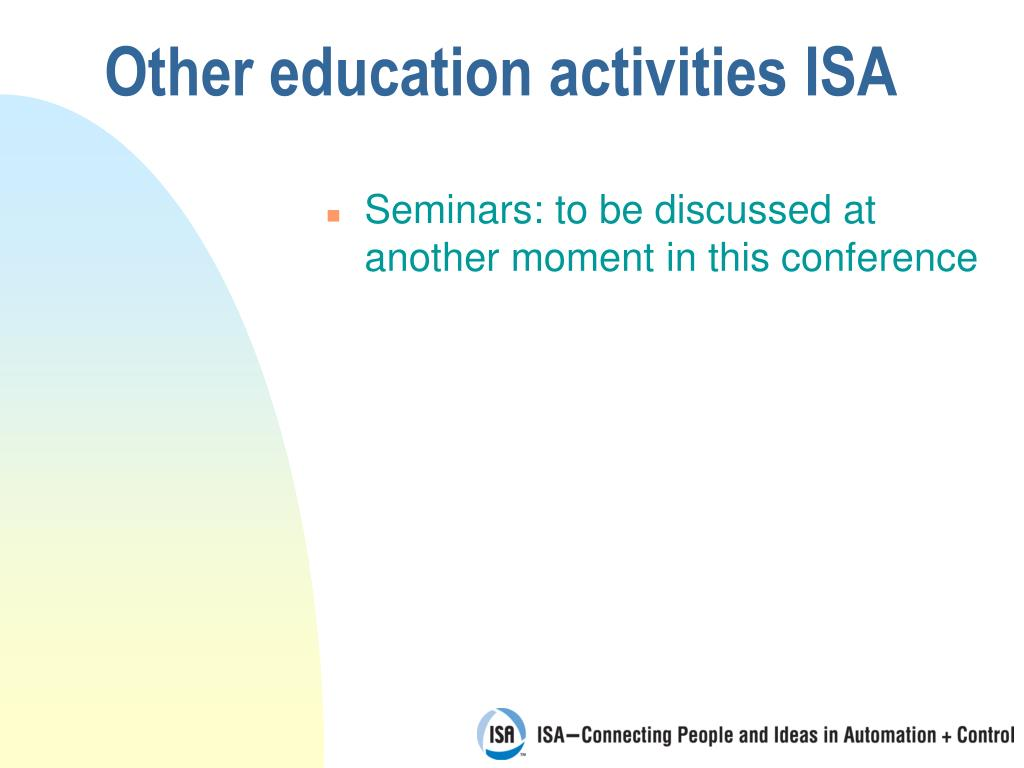 Other education activities ISA