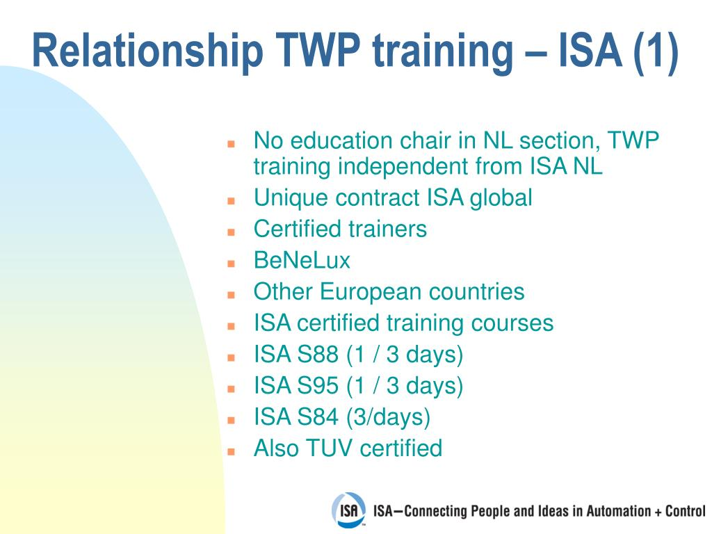 Relationship TWP training – ISA (1)