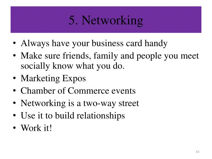 5. Networking