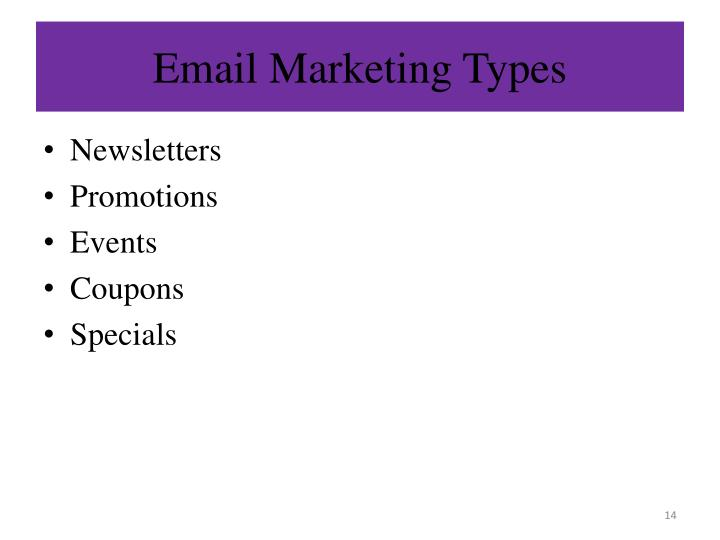 Email Marketing Types