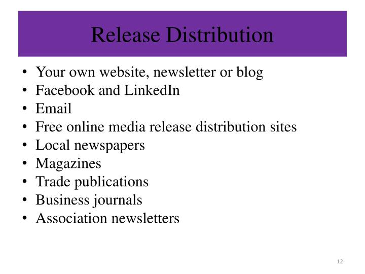 Release Distribution