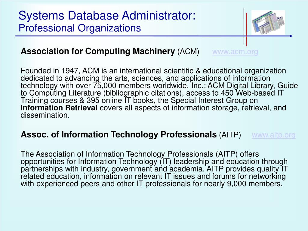 Systems Database Administrator: