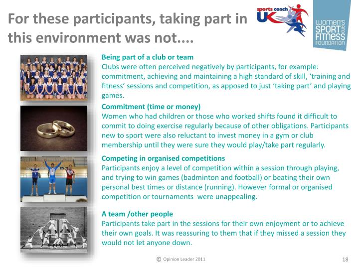 For these participants, taking part in