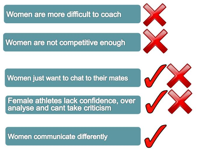 Women are more difficult to coach