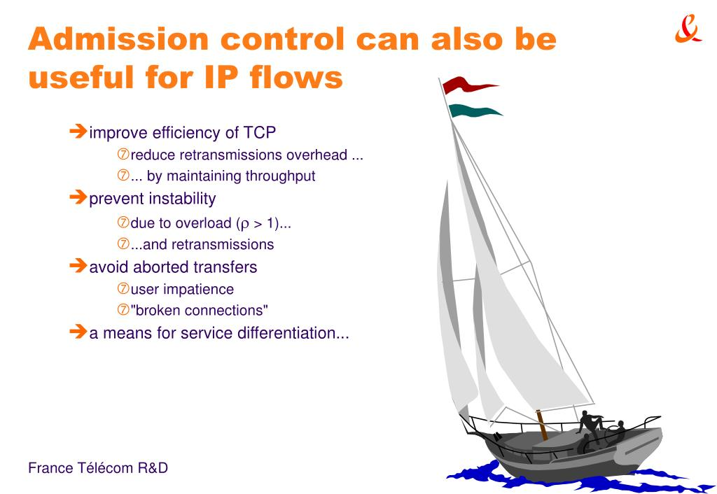 Admission control can also be useful for IP flows