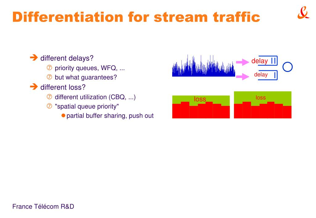 Differentiation for stream traffic