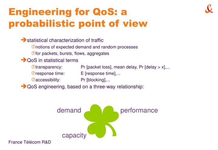 Engineering for qos a probabilistic point of view