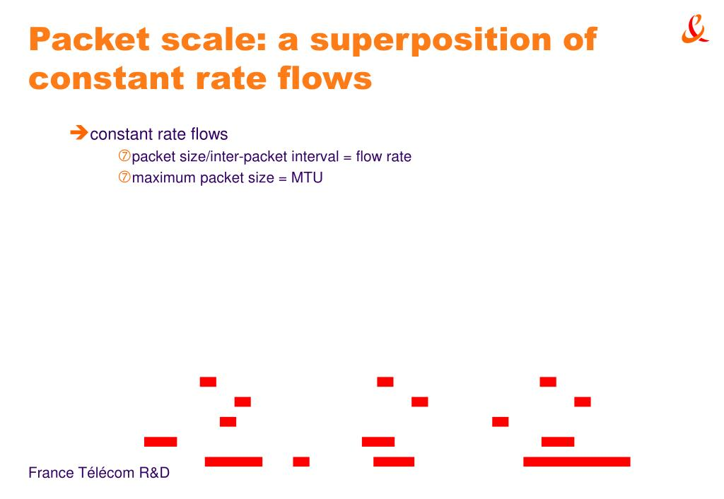 Packet scale: a superposition of constant rate flows