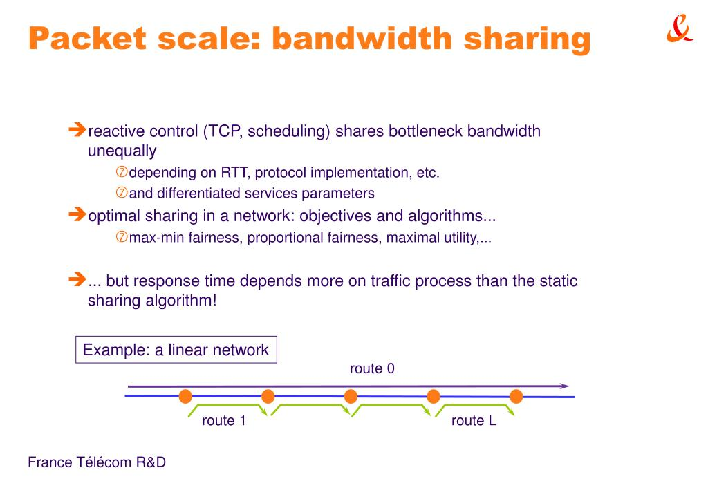 Packet scale: bandwidth sharing