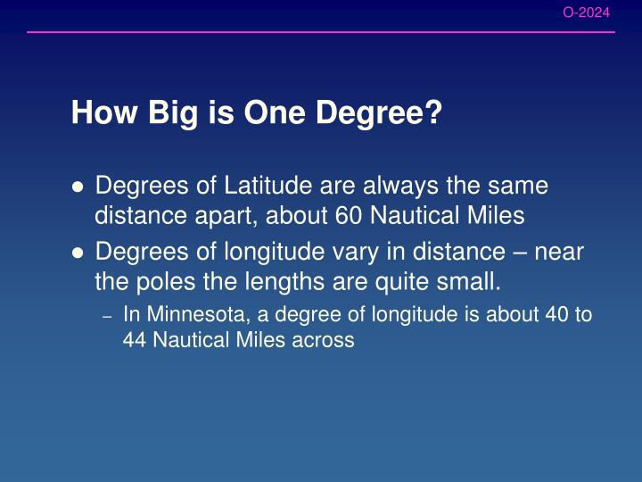 How Big is One Degree?