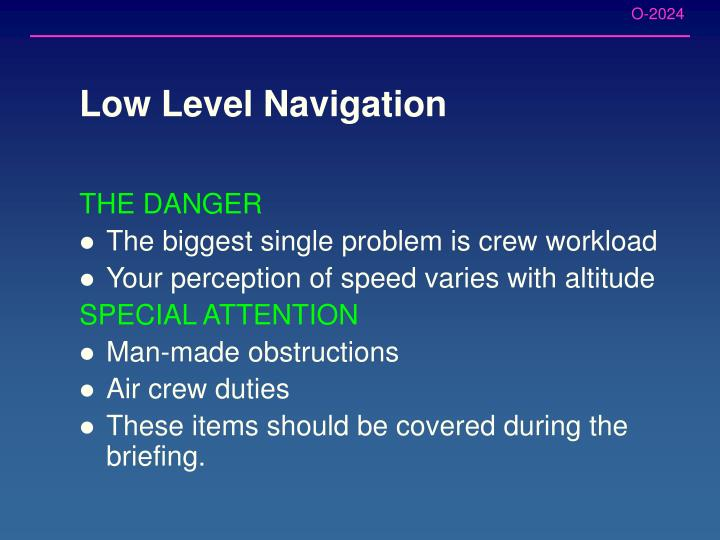 Low Level Navigation