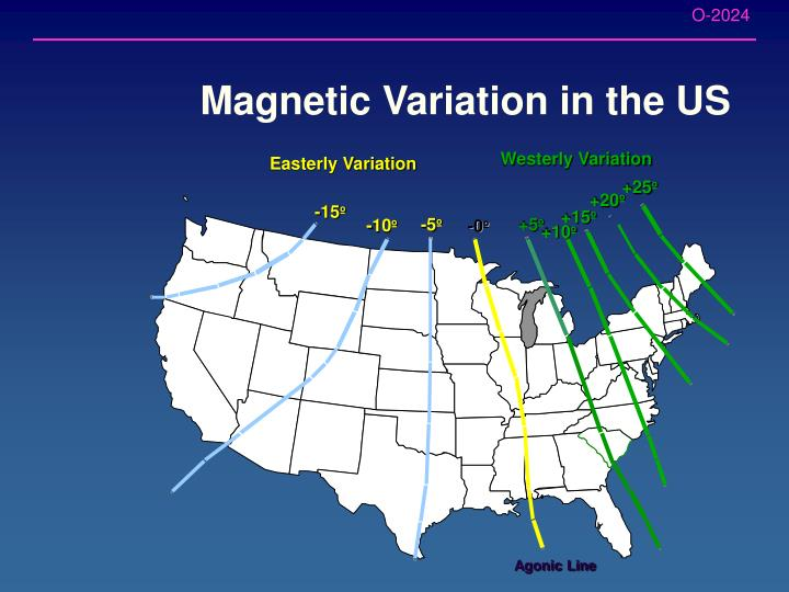 Magnetic Variation in the US