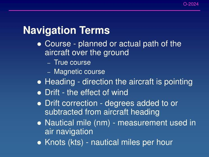 Navigation Terms