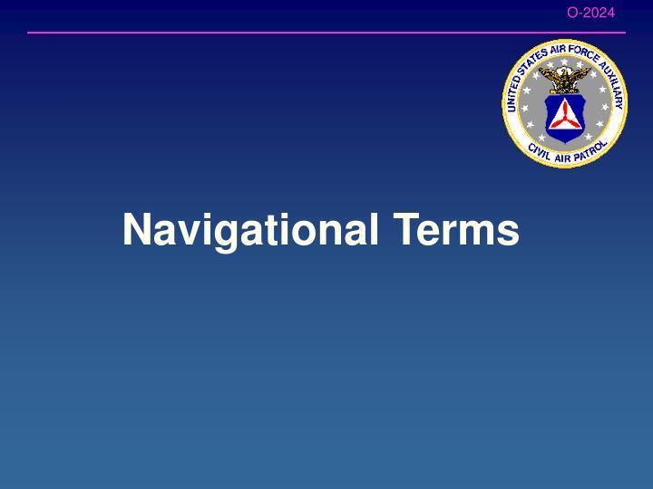 Navigational Terms
