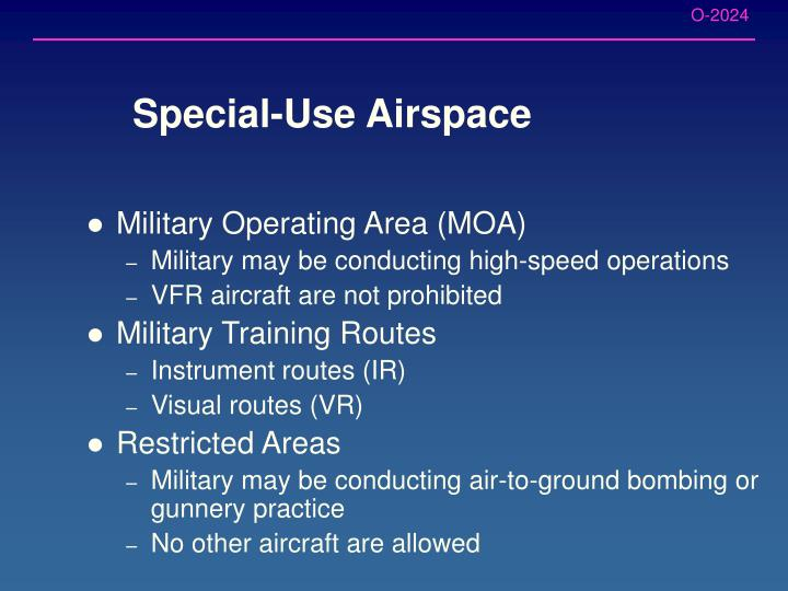 Special-Use Airspace