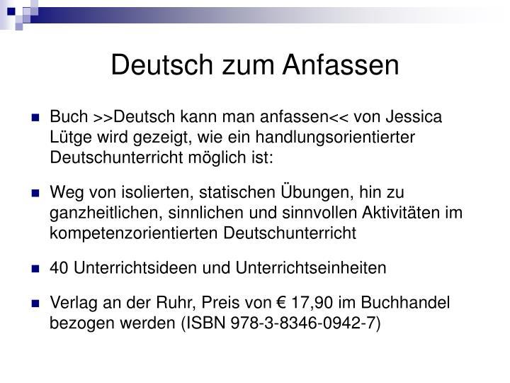 Deutsch zum Anfassen