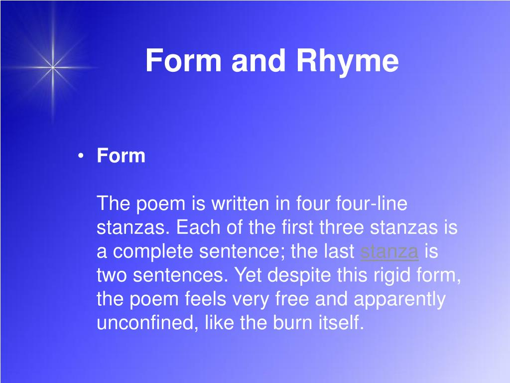 Form and Rhyme