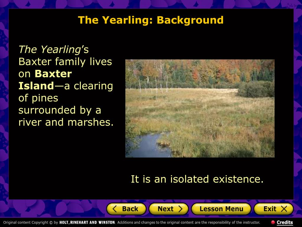 The Yearling: Background