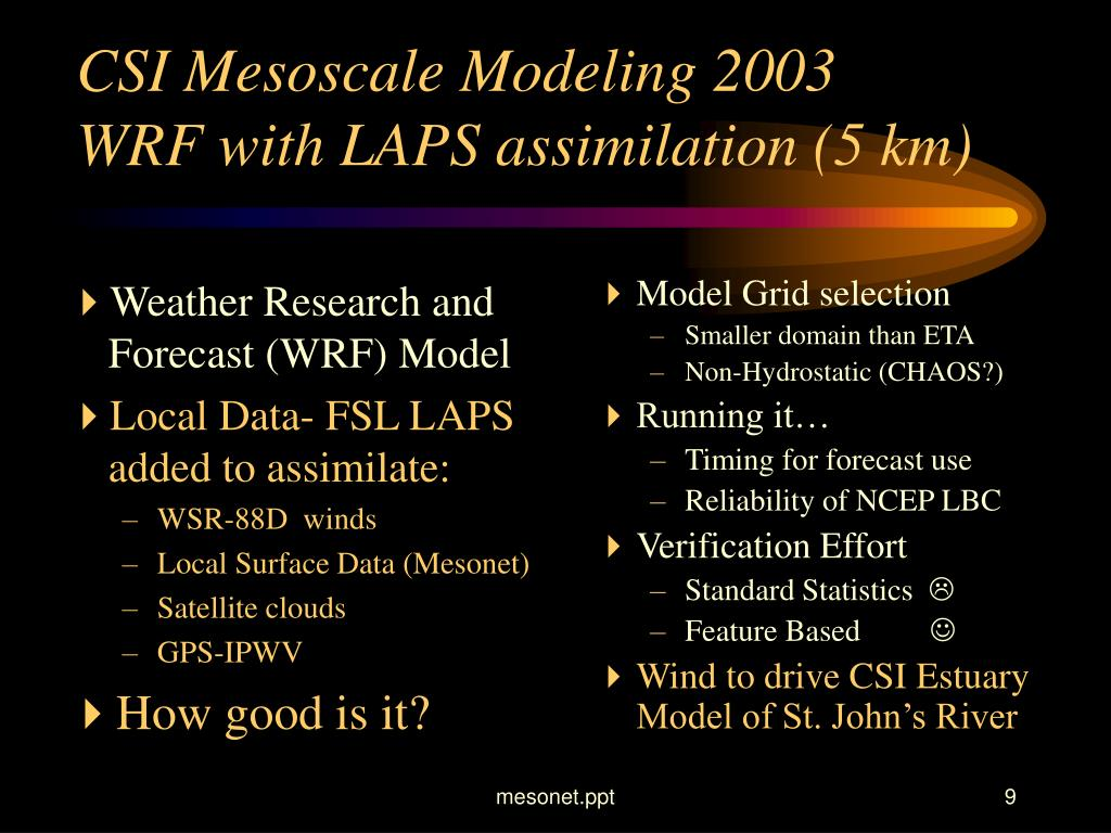 Weather Research and Forecast (WRF) Model