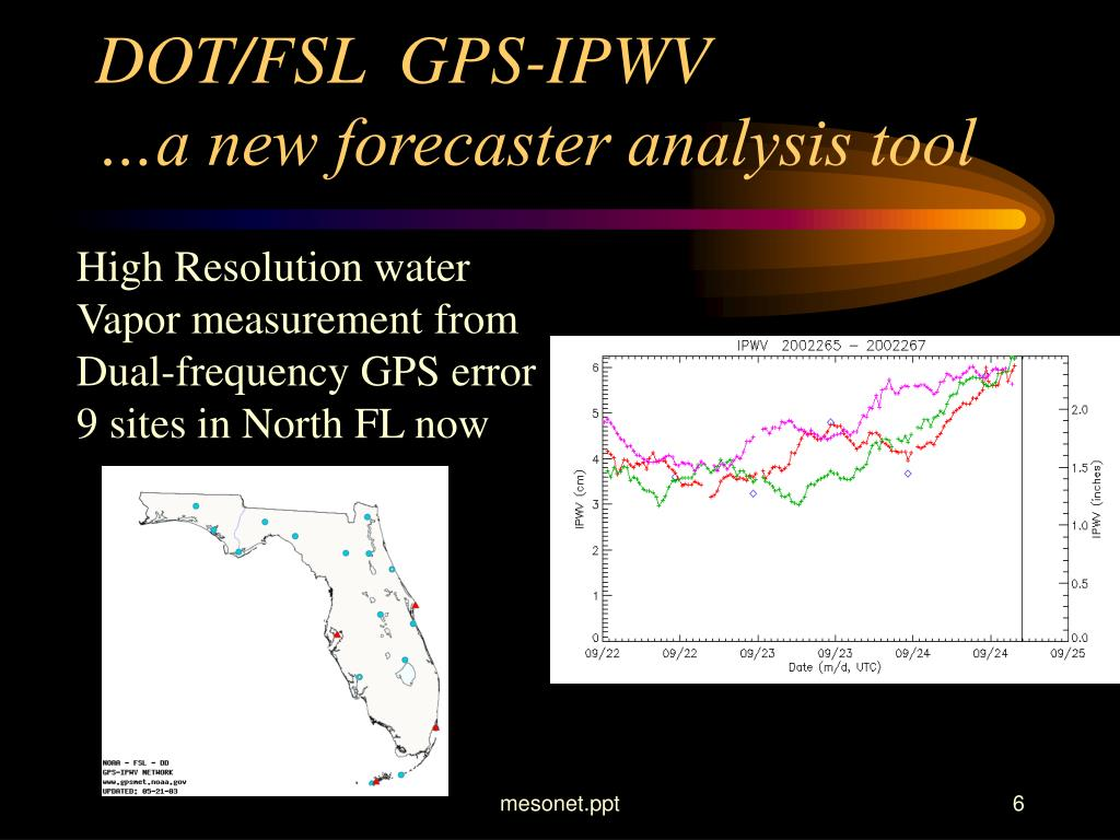DOT/FSL  GPS-IPWV