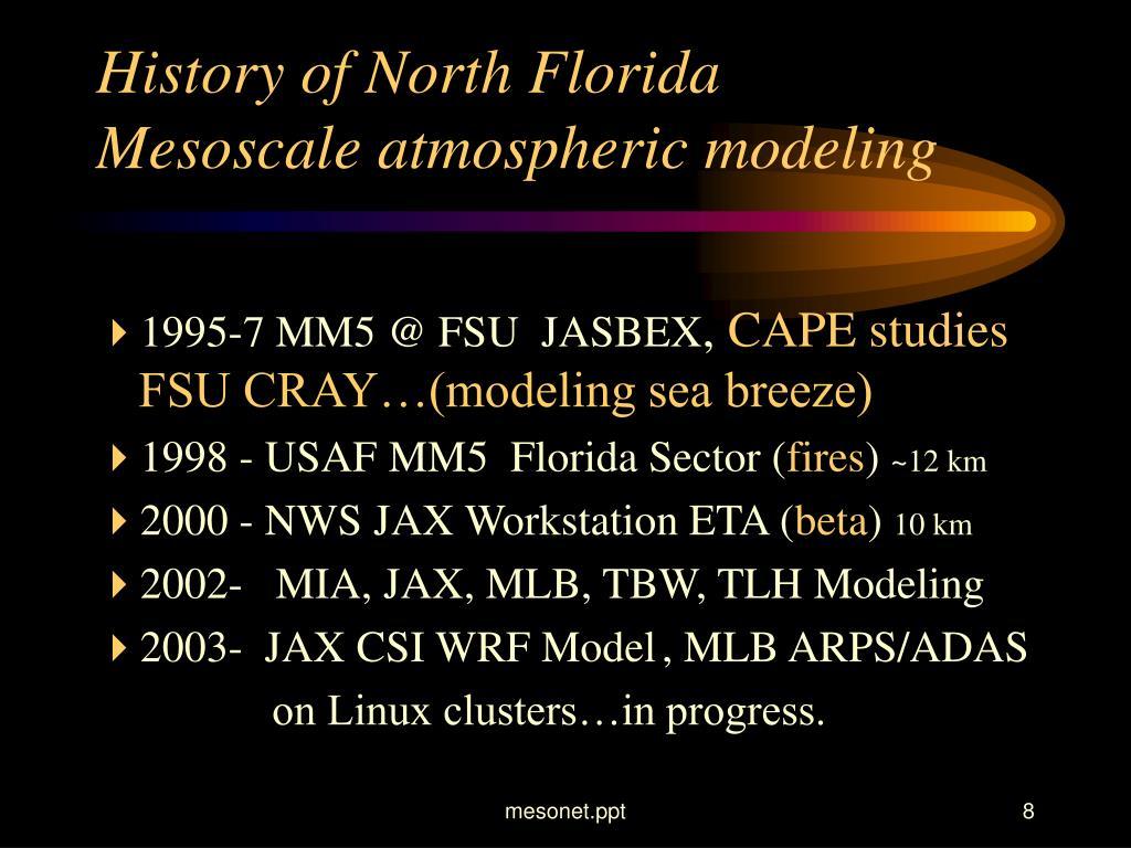 History of North Florida