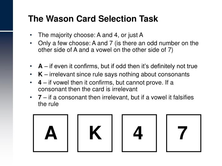 The Wason Card Selection Task