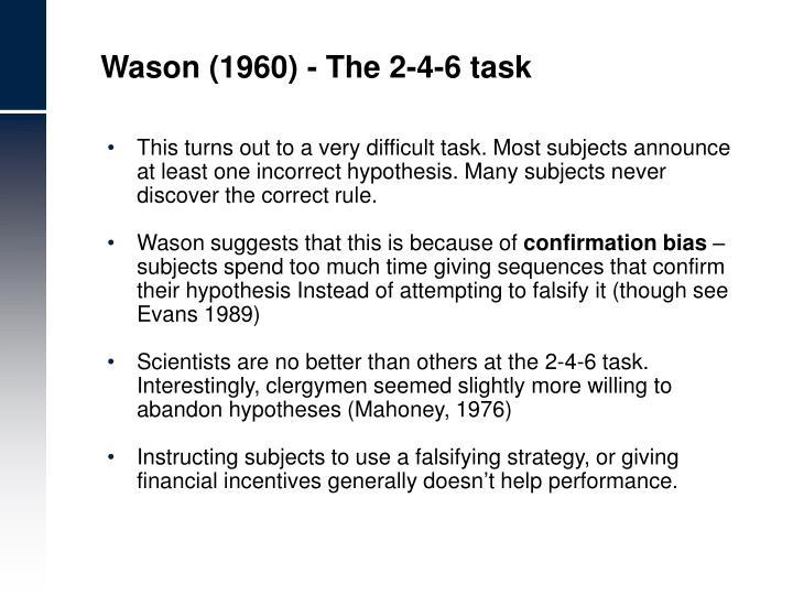 Wason (1960) - The 2-4-6 task