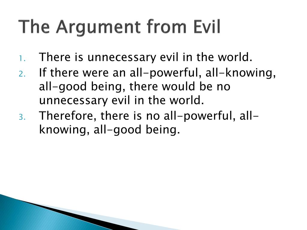 The Argument from Evil