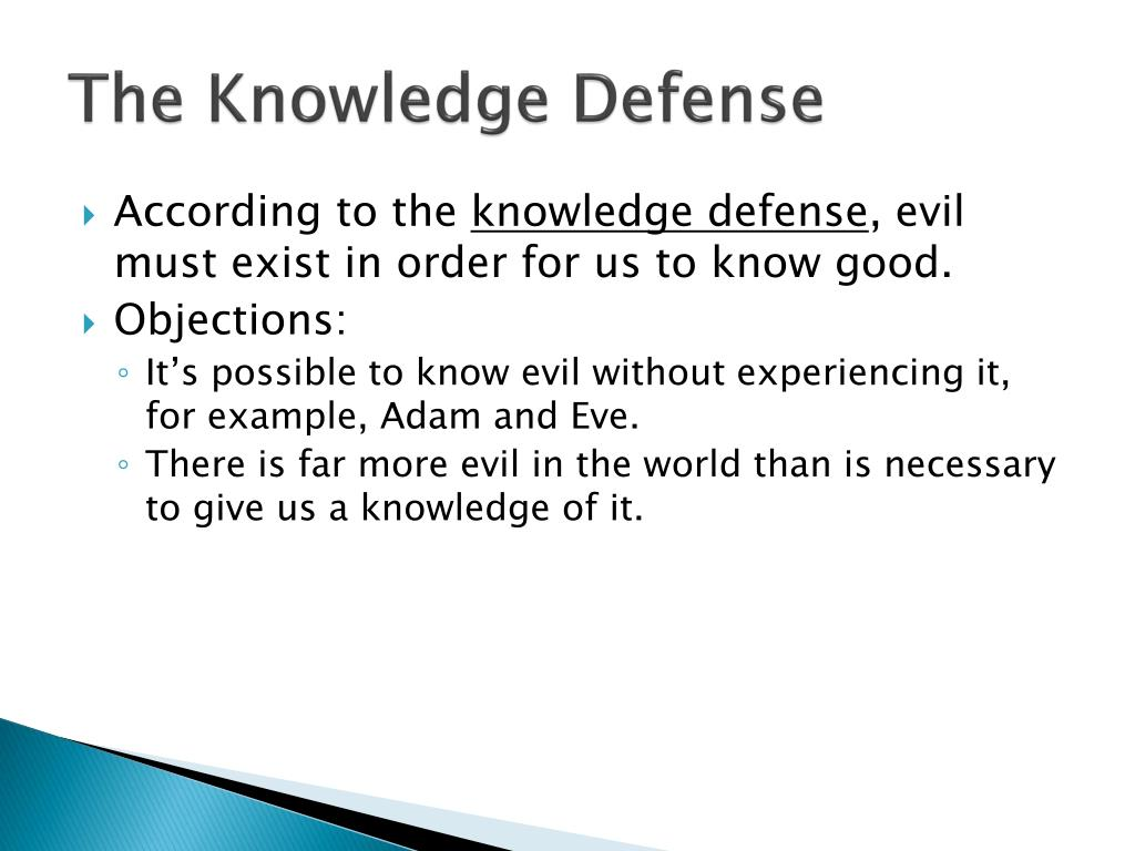 The Knowledge Defense