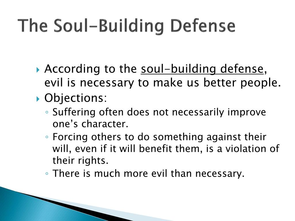 The Soul-Building Defense