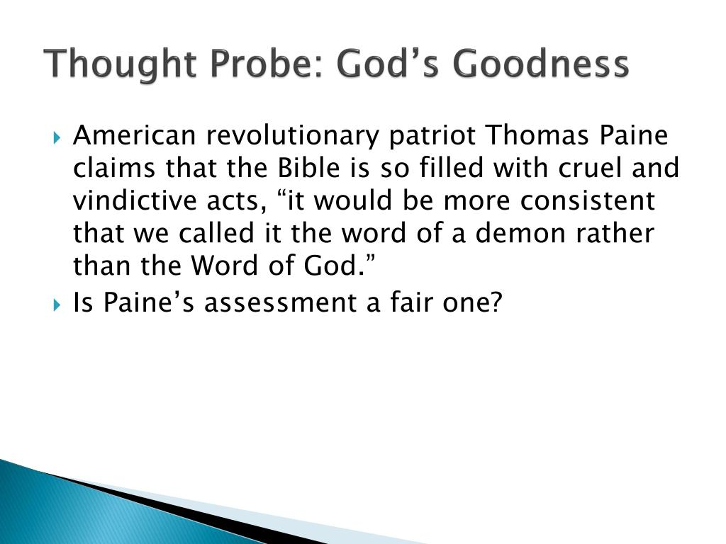 Thought Probe: God's Goodness