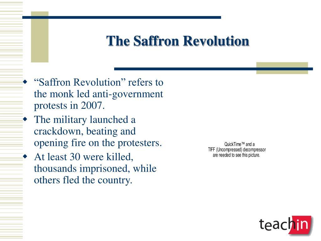 The Saffron Revolution