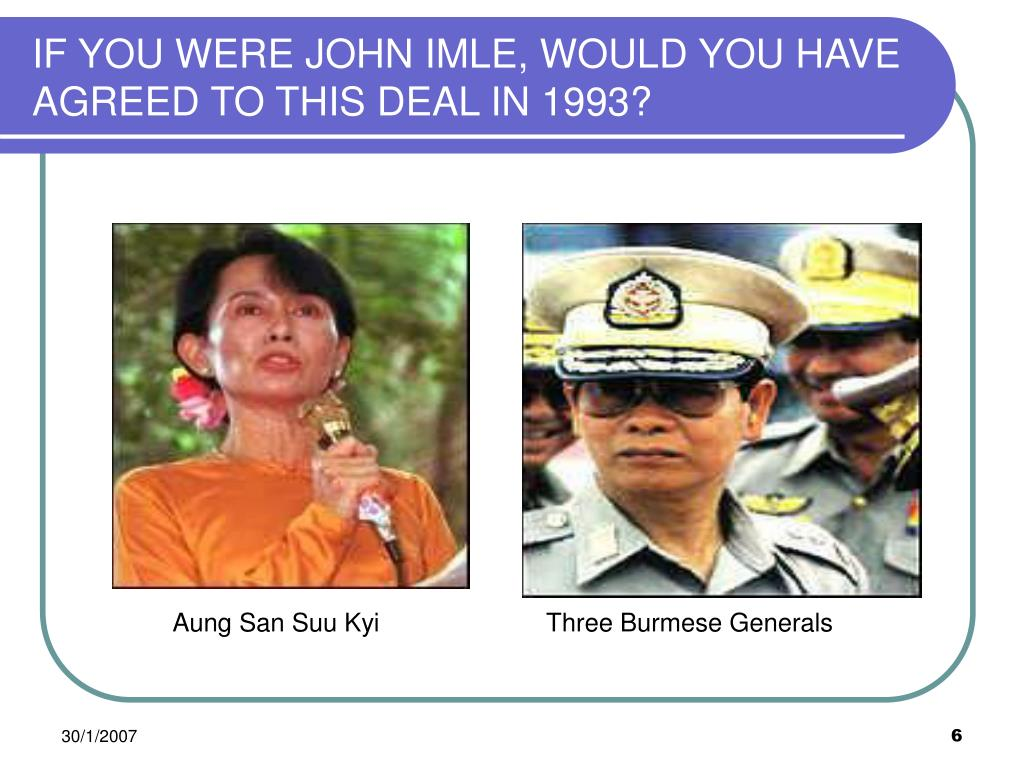 IF YOU WERE JOHN IMLE, WOULD YOU HAVE AGREED TO THIS DEAL IN 1993?