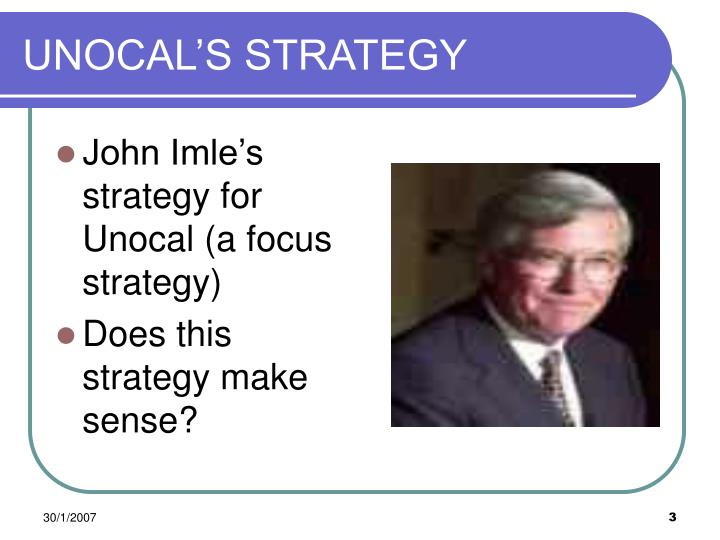 Unocal s strategy
