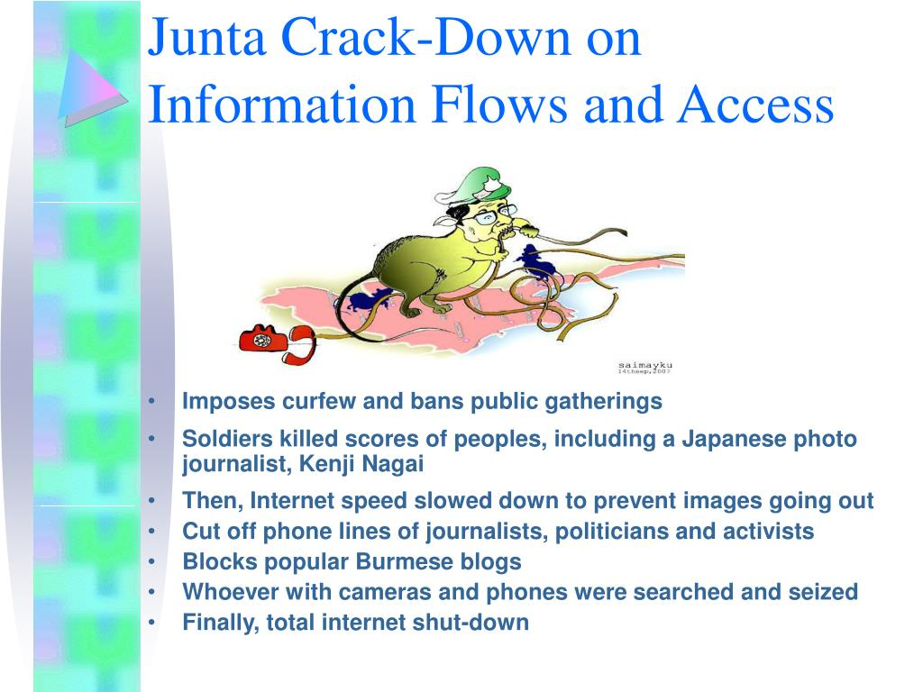 Junta Crack-Down on Information Flows and Access