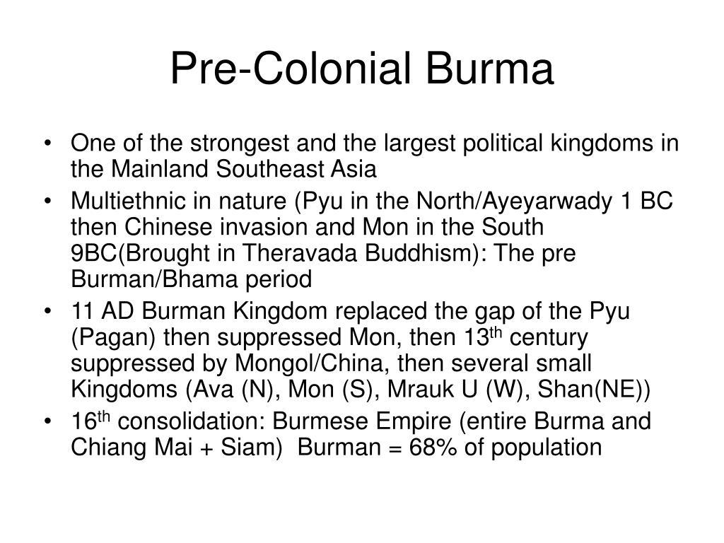 Pre-Colonial Burma