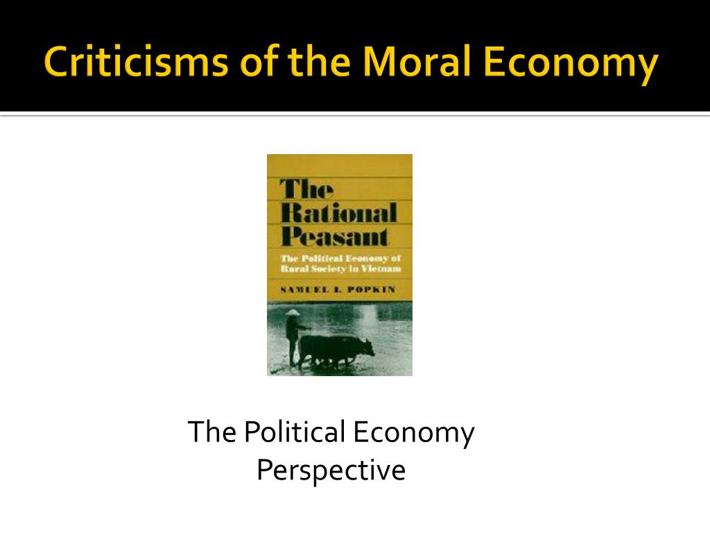 Criticisms of the Moral Economy