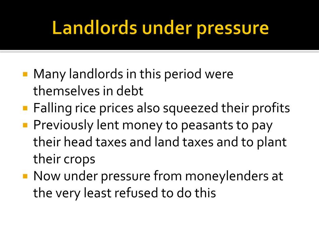 Landlords under pressure