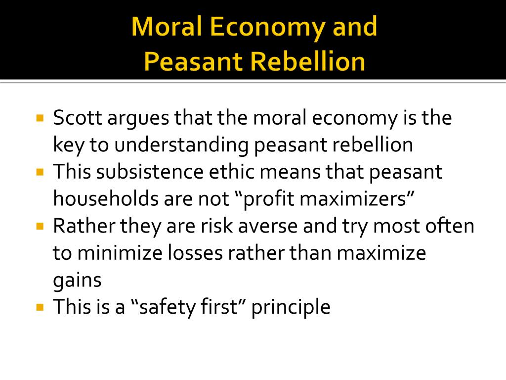 Moral Economy and