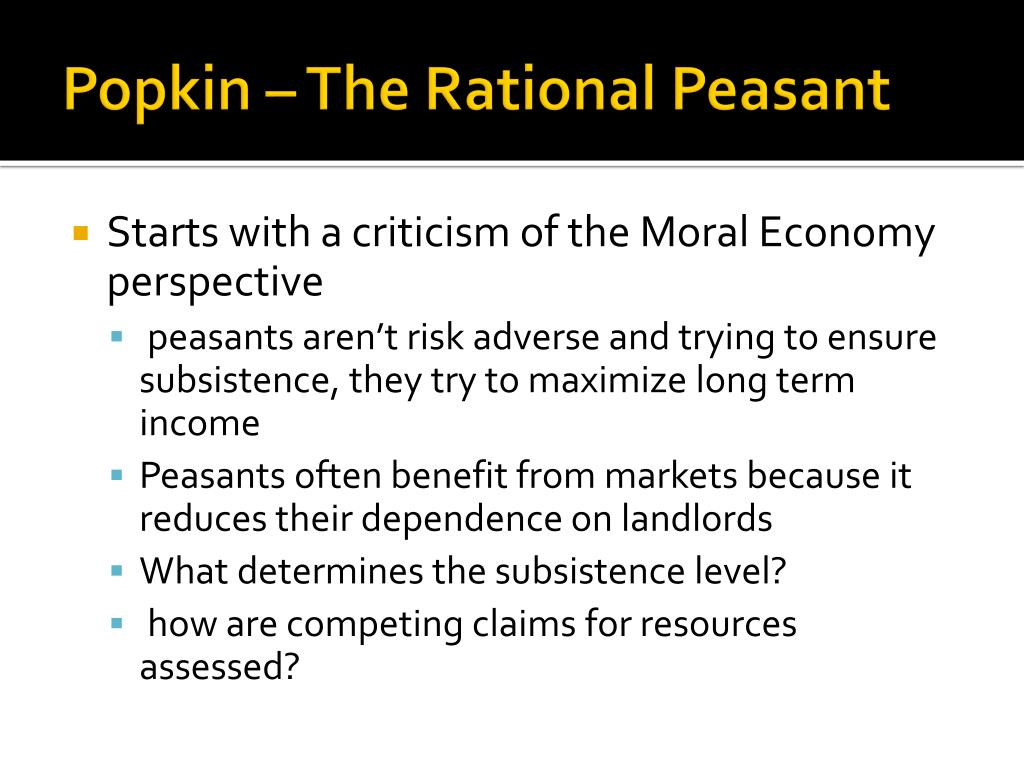 Popkin – The Rational Peasant