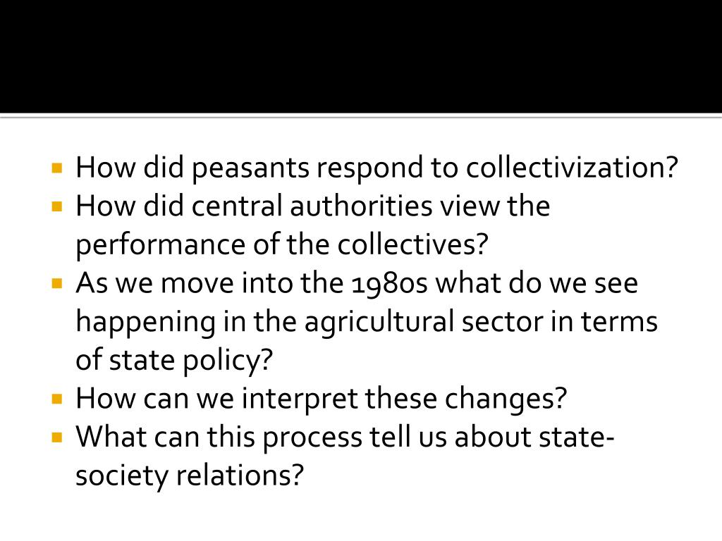 How did peasants respond to collectivization?