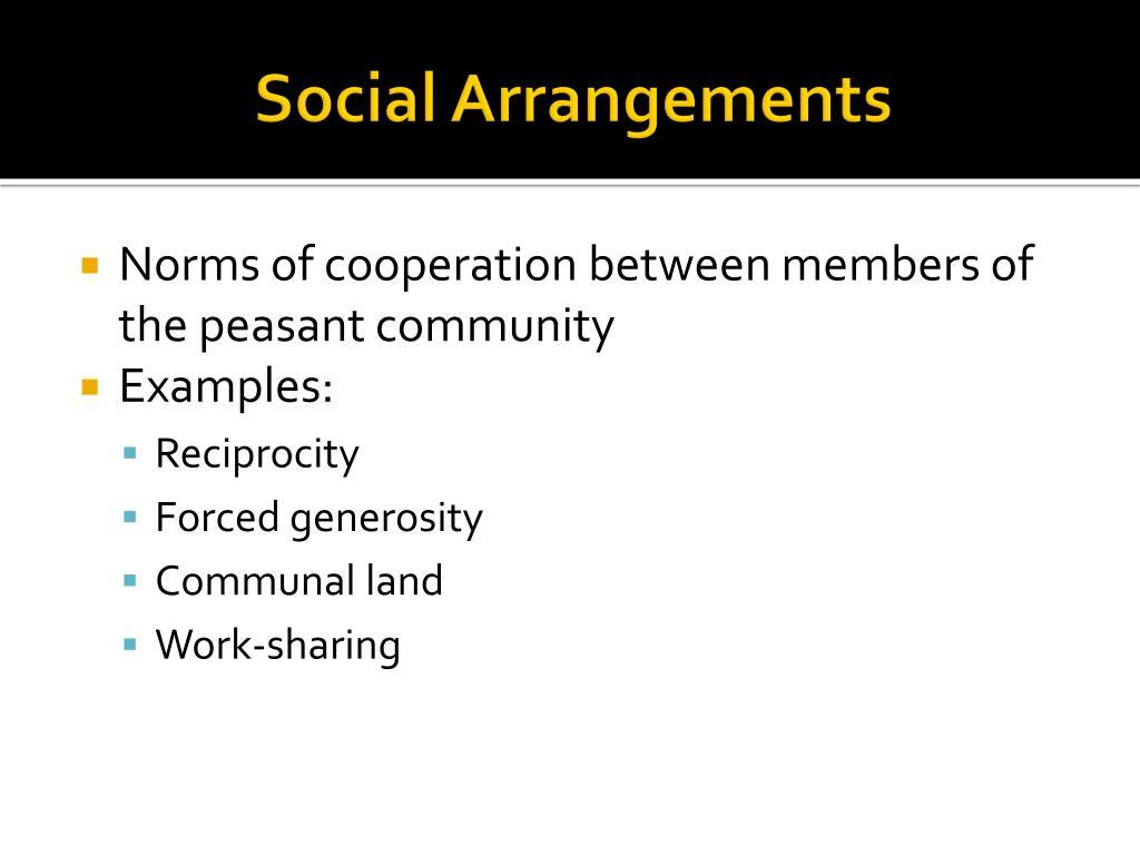 Social Arrangements