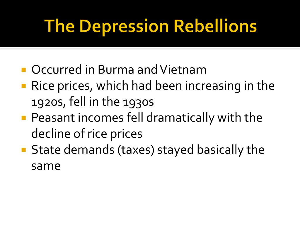 The Depression Rebellions