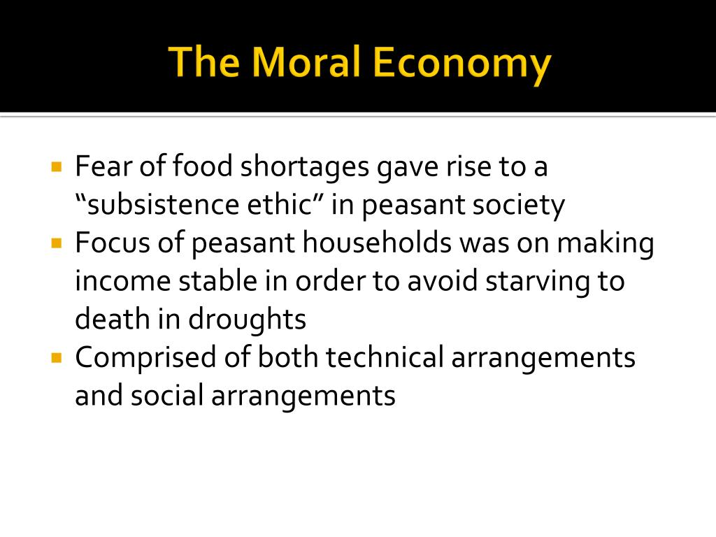 The Moral Economy