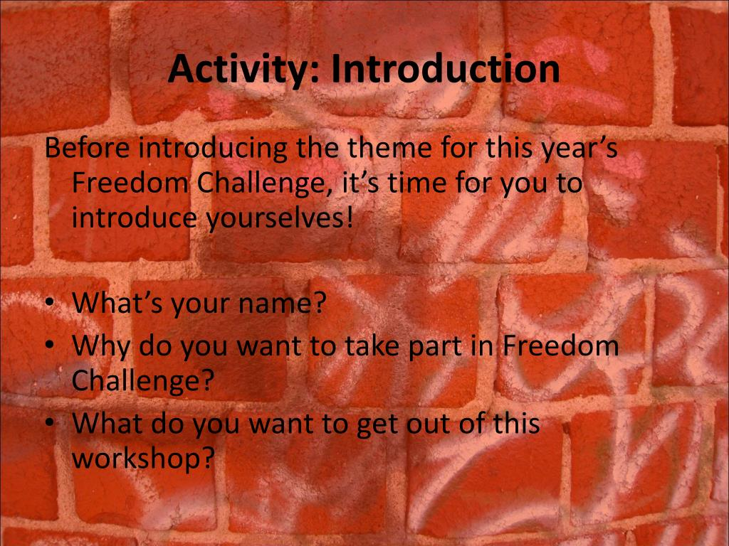 Activity: Introduction