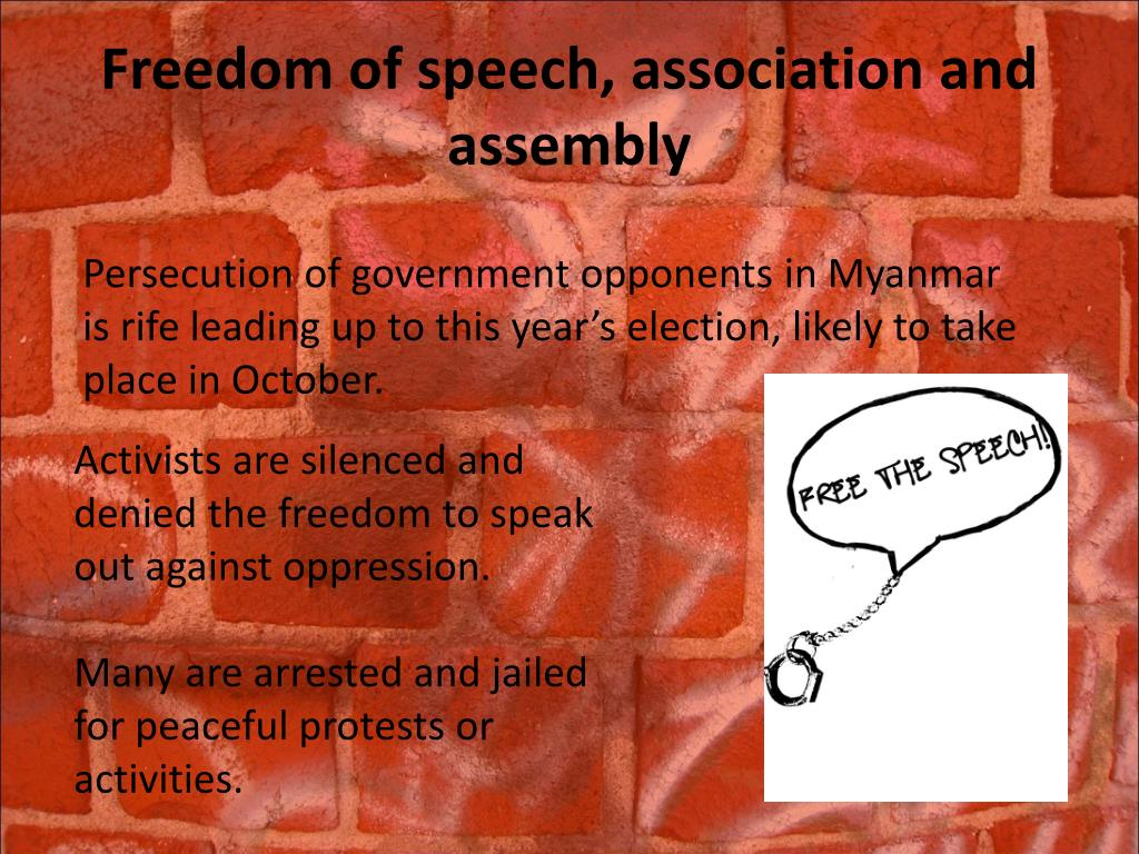 Freedom of speech, association and assembly