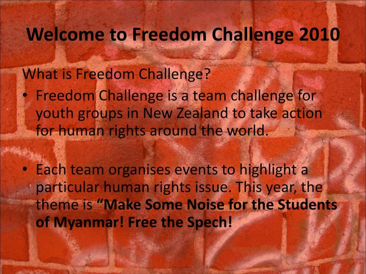 Welcome to freedom challenge 2010 l.jpg